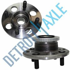 Set of (2) New REAR Complete Wheel Hub & Bearing for Civic w/ ABS Drum Breaks