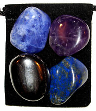 INSOMNIA Tumbled Crystal Healing Set  = 4 Stones + Pouch + Description Card