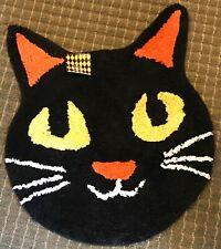 Halloween Black Cat Rug 20x20 inches