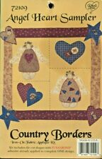 New listing Country Borders Angel Heart Sampler Iron-On Fabric Applique Kit 72109