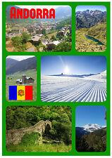 ANDORRA - SOUVENIR NOVELTY FRIDGE MAGNET - FLAGS / SIGHTS - BRAND NEW - GIFTS