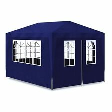 Outdoor 10'x13' Blue Canopy Party Tent Gazebo Pavilion Cater Events 4 Sidewalls