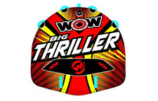 New listing Wow Watersports Thriller Deck Tube Water Towable Tube Inflatable Boat Tube, Wild