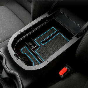 For Toyota RAV4 2019+ Blue Armrest Console Central Slot Storage Box Accessories