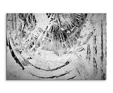 120x80cm Astratto_895 Nero Bianco Grigio Cazzuola Pittura Tela Sinus Art