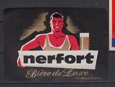 A314  Ancienne étiquette Bière France Brasserie Nerfort