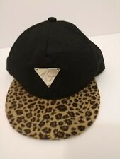 Hater Cheetah Leopard Brim Snapback Metal Badge Fashion Adjustable Hat Cap