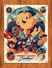 "TIN SIGN ""Popeye Art"" Cartoon Poster Wall Decor"