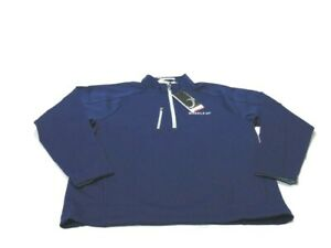 Zero Restriction Shirt Blue Gray Long Sleeve Z500 1/4 Zip Pullover Golf Mens XL