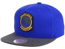 Golden State Warriors Mitchell & Ness Flat Brim Snapback Hat Blue Gray NBA