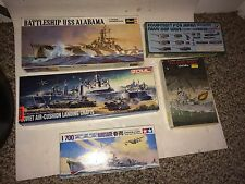 5 Vintage Battleship USS Alabama,Soviet Landing,Biloxi Ship Boat Model Kits