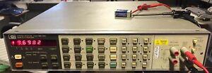 HP 3456A Bench Multimeter 6,5 Stellen, Gebrauchsspuren, voll funktionsfähig