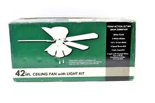 42 in 5 White Blade Ceiling Fan Kit 153 x 10 mm Motor Item Number AC742A-3LT WH