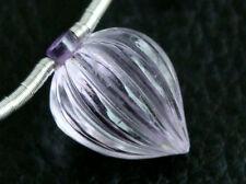 Natural Pink Amethyst Hand Carved Drop Briolette Gemstone Bead