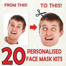20 Foto De Kit Personalizado Mascarilla Bricolaje Stag Do Hen Noche Fiesta Fajín máscaras! V