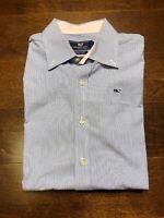 VINEYARD VINES Size XL Whale Multicolor Plaid Long Sleeve Shirt Slim Fit Blue