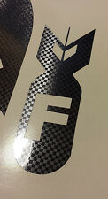CARBON FIBER 2x F BOMB 5 inch Vinyl Decal Sticker Window Illest Drift JDM Funny
