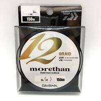 Daiwa UVF MORETHAN 12 BRAID +Si Braided PE Line 150m Select # Free Shipping