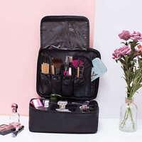 Women Large Makeup Bag Cosmetic Case Storage Handle Travel Organizer WAE