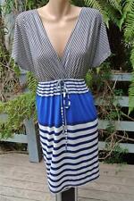 Crossroads Blue Stripe Tunic DRESS  Size XXL-20/22 NEW. GR8 Comfortable w Tights