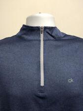 Calvin Klein Men's Harlem 1/4 Zip Pullover - L, Navy