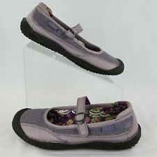 Keen Size 7 Mary Jane Women's Purple Leather Canvas Buckle Comfort Footbed