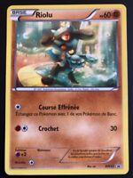 Carte Pokemon RIOLU BW33 PROMO Black Star Noir et Blanc N&B FR NEUF