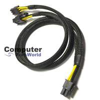 8pin to 8+6pin Power Cable for BeQuiet! PSU and NVIDIA Tesla GPU 50cm