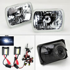 """7X6"""" 8K HID Xenon H4 Crystal Clear Glass Headlight Conversion Pair RH LH GMC"""