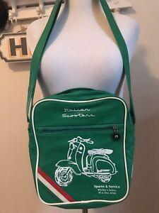 vintage Vespa blue bag vegan shoulder bag scooter unisex messenger bike flap bag italian made in Italy