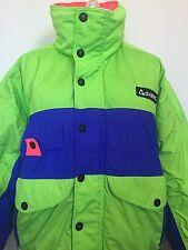 GERRY Size M Men's Down Jacket Green Blue Retro Front Zip Snap