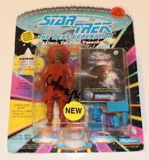 WHOOPI GOLDBERG SIGNED 'STAR TREK NEXT GENERATION' TOY ACTION FIGURE w/COA PROOF
