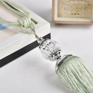 2* New Curtain Tiebacks Luxury Tassel Beaded Holdbacks Drapes Tie Back Decor K