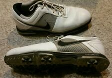 Nike Golf Lunarlon Flywire Mens 9.5 golf cleats leather light use VGC 418471-101