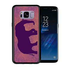 Elephant Sihlouette Purple For Samsung Galaxy S8 2017 Case Cover by Atomic Marke