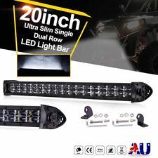 20inch 20000LM CREE LED Light Bar Spot Flood Dual Row Slim Work Driving 12V 24V