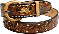 Rindsleder Wechselgürtel Gürtel Mustang Gürtelschnalle Buckle Belt Made in Mexic