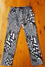 SEDUCE Black/White Print Pants Size 10