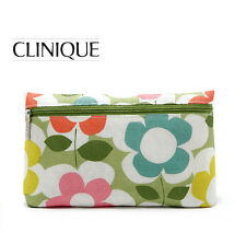 1x CLINIQUE Makeup Cosmetics Bag decorated with Flower Pattern, Brand NEW!!
