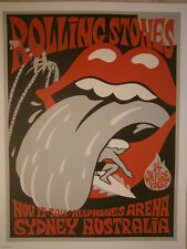 Rolling Stones lithograph poster Sydney - 14 on FireTour LITHO australia
