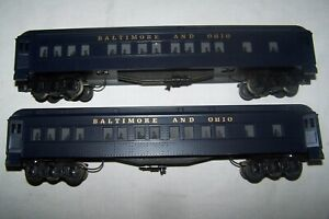 WILLIAMS TWO BALTIMORE & OHIO LIGHTED PASSENGER CARS EXCELLENT