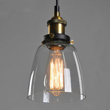 Vintage Rustic Glass Shade Ceiling Lights Chandelier Fitting Pendant Lamp Lights
