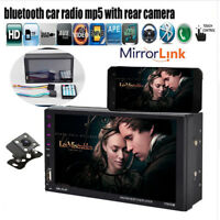 7'' Touch Screen 2 DIN Car Radio Bluetooth MP4 MP5 Player Stereo FM/TF/USB/AUX