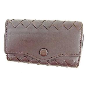 Bottega Veneta Key holder Intrecciato Brown Woman unisex Authentic Used L1443