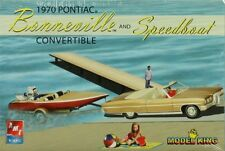 AMT ERTL 1:25 1970 Pontiac Bonneville Convertible Speedboat Trailer Kit #21574P