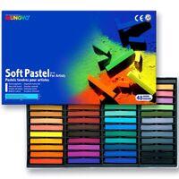 48 Brilliant Colours! Mungyo Professional Artists Square Soft Pastels Full Stick