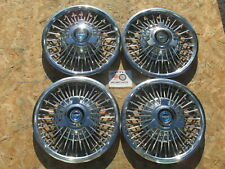 "1965 66 67 FORD MUSTANG, FAIRLANE 14"" WIRE SPINNER WHEEL COVERS HUBCAPS SET OF 4"
