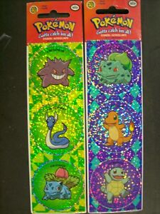 6 Pokemon Sticker Gengar Charmander Squirtle Bulbasaur Ivysaur Dragonair