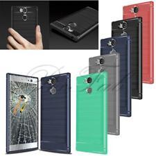 Para Sony Experia L2 Nuevo Fibra de Carbono Negro Gel Funda de Teléfono +