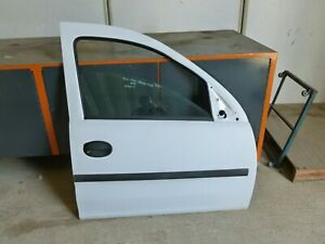 VAUXHALL COMBO CDTI 2008 O/S DRIVER SIDE COMPLETE FRON DOOR IN WHITE 7474